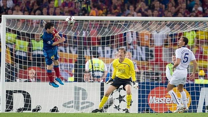 Cabezaco de Messi en la final de Roma y sus capacidades visuales